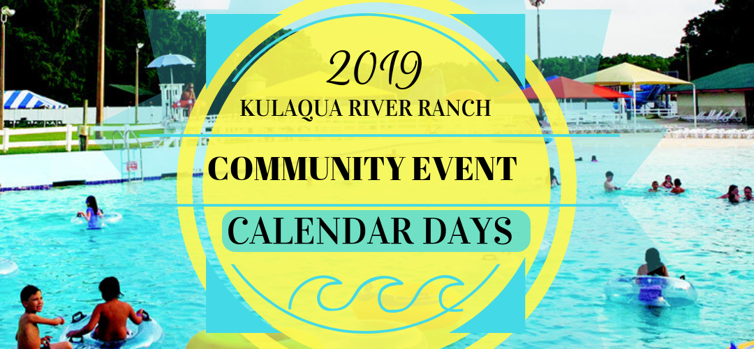 2019 River Ranch Water Park Community Event Days