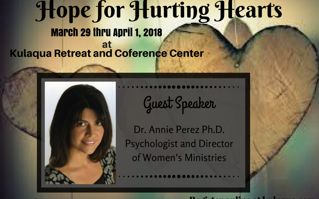 Hope for Hurting Hearts Teen Retreat at Kulaqua Retreat and Conference Center in 2018