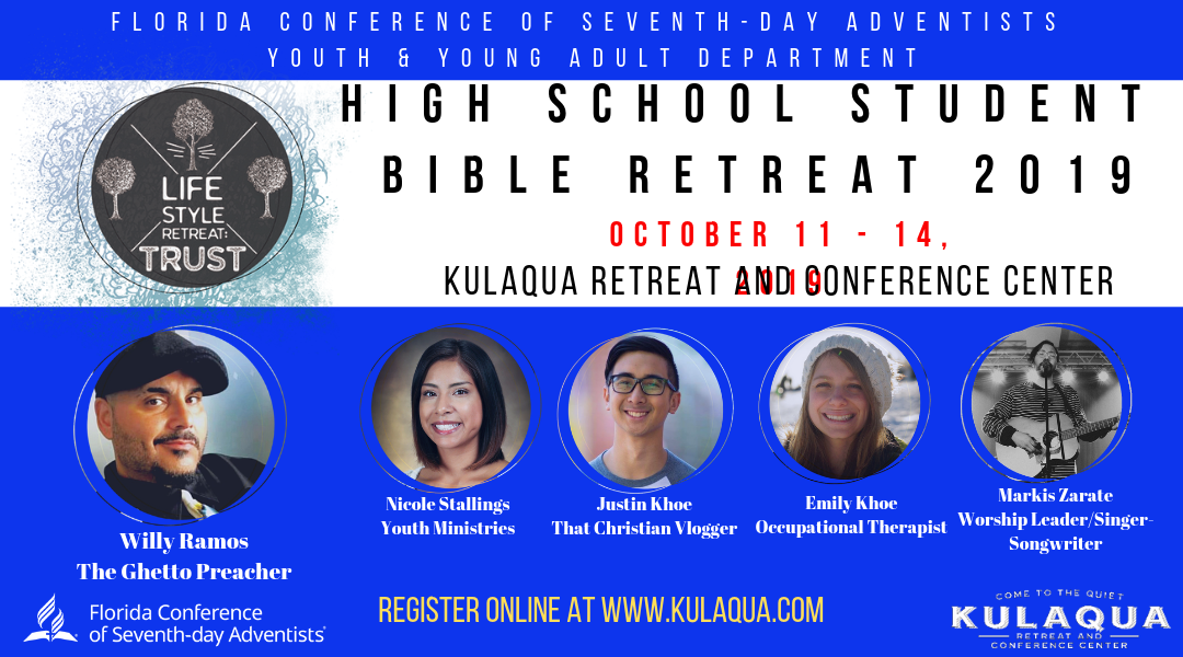 2019 Lifestyle Retreat Trust High School Student Bible Retreat