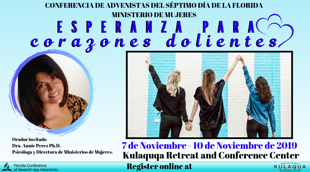Hope for Hurting Hearts Retreat at Kulaqua Retreat and Conference Center in 2019 November Session – Spanish
