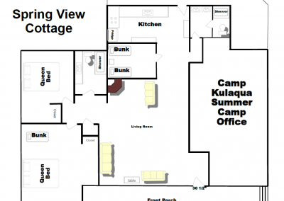 spring view cottage updated floor plan 2018 kulaqua retreat and conference center